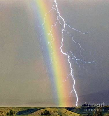 Photograph - Rainbow-lightening by Alex Rahav
