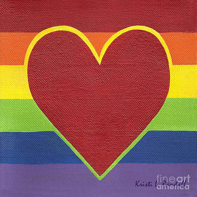 Painting - Rainbow Love by Kristi L Randall