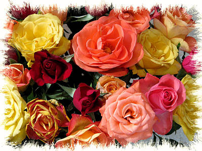 Photograph - Rainbow Of Roses by Peg Urban