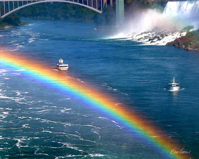 Photograph - Rainbow On Niagara Falls by Diana Haronis