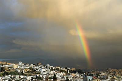 Rainbow Over Granada Yesterday Art Print by Guido Montanes Castillo