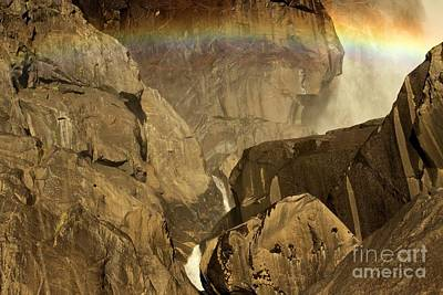 Photograph - Rainbow Over Lower Bridal Veil by Adam Jewell