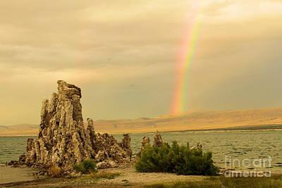 Photograph - Rainbow Over Mono Lake by Adam Jewell