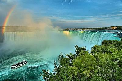Photograph - Rainbow Over Niagara by Adam Jewell