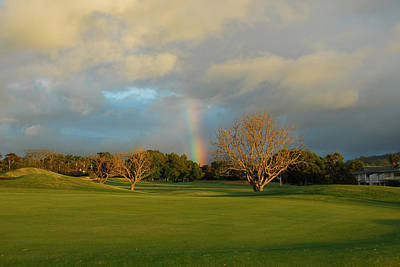 Rainbows Photograph - Rainbow Over Princeville by Lynn Bauer