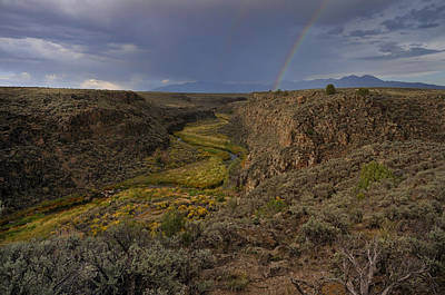 Photograph - Rainbow Over The Rio Pueblo by Ron Cline