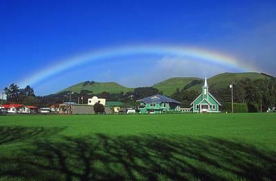 Of Gods Sunshine Photograph - Rainbow Over The Village by Bilderbuch