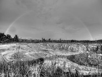Print featuring the photograph Rainbow Pit by John Burns