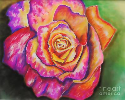 Rainbow Rose Art Print by Alissa  Skoczelak