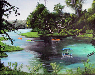 Rainbow Springs In Florida Art Print by Luis F Rodriguez