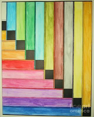 Rainbow Stairway Art Print