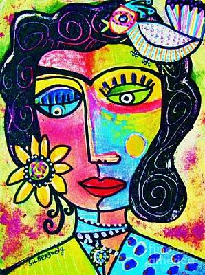 Rainbow Sunshine Frida Art Print