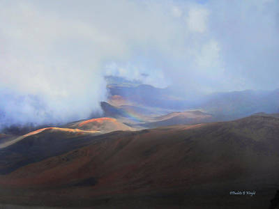 Photograph - Rainbows And Cinder Cones by Paulette B Wright