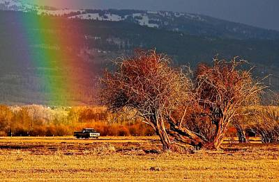Photograph - Rainbow's End ... A Pickup by Eric Tressler
