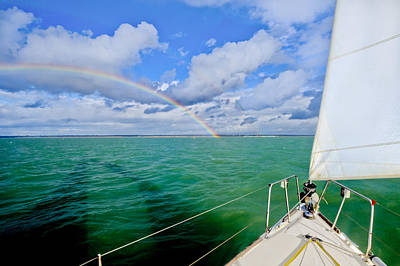 Photograph - Rainbows Off The Port Bow by Gary Eason