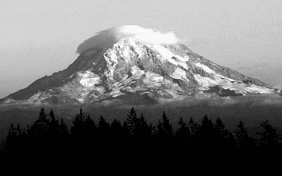 Photograph - Rainier's Cloud Toupee by Chris Anderson