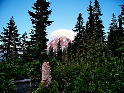 Photograph - Rainier's Hat by Mark Bowmer