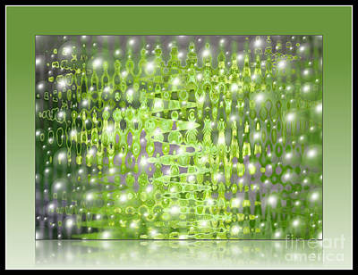 Food And Flowers Still Life Rights Managed Images - Raining Bubbles Abstract Royalty-Free Image by Carol Groenen