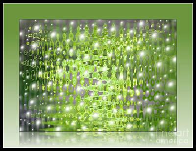 Rainy Day Photograph - Raining Bubbles Abstract by Carol Groenen