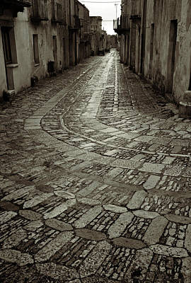 Raining In Erice Art Print