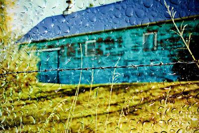 Rainy Barn Art Print