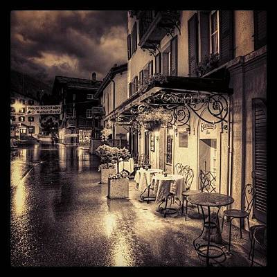 Iger Wall Art - Photograph - #rainy #cafe #classic #old #classy #ig by Abdelrahman Alawwad