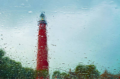 Photograph - Rainy Day At The Lighthouse by Laurie Hasan