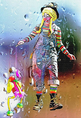 Rainy Day Clown 3 Art Print by Steve Ohlsen