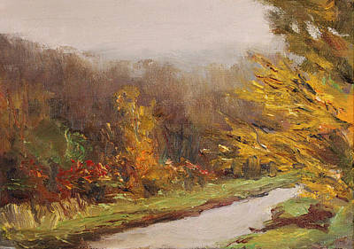 Peeper Painting - Rainy Day Dack Sketch by Robert James Hacunda