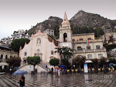 Rainy Day Photograph - Rainy Day In Taormina by Madeline Ellis