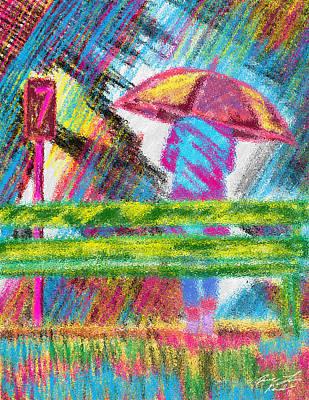 Rainy Day Art Print by Kenal Louis