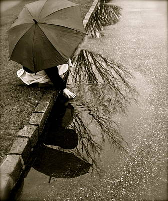 Photograph - Rainy Day Solitude by Susan Elise Shiebler
