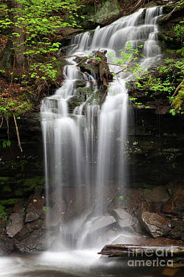 Photograph - Rainy Day Spring Wilderness Waterfall Cascade And Plunge by John Stephens