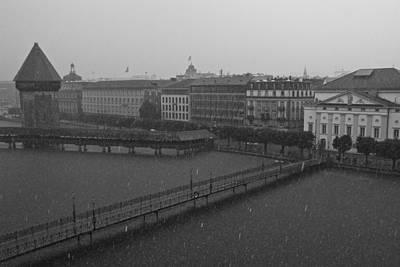 Rainy Days In Lucern Art Print by Jim Neumann