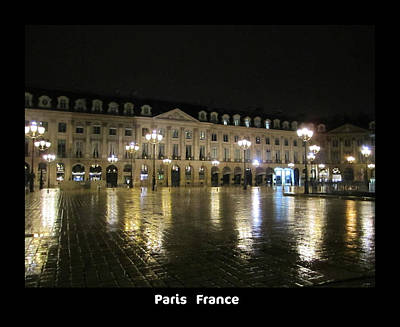 Photograph - Rainy Night In Paris  by John Shiron