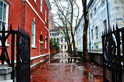 Rainy Philadelphia Alley Art Print by Bill Cannon