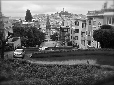 Photograph - Rainy San Francisco From Lombard Street by Kume Bryant