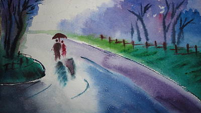 Rainy Season Art Print by Vijayendra Bapte