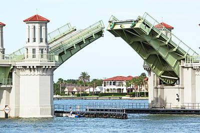 Florida Bridge Photograph - Raised Bridge by Kenneth Albin