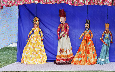 Time On A String Photograph - Rajasthan Tribal Puppet Show by Kantilal Patel