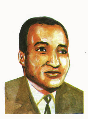 Ralph Bunche Art Print by Emmanuel Baliyanga