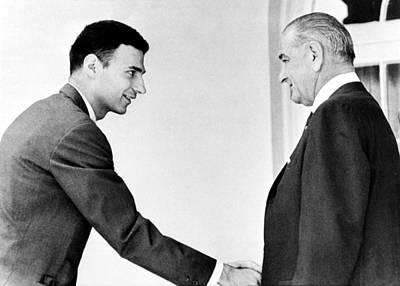 Ralph Nader, Shakes Hands Art Print