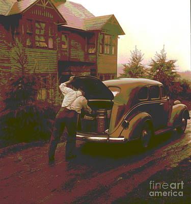 Op Art Photograph - Ralph Reitz Loading Produce by Padre Art