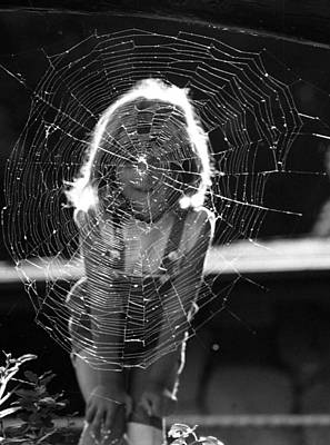 Photograph - Raluca And The Spiderweb I by Emanuel Tanjala