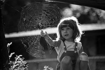 Photograph - Raluca And The Spiderweb II by Emanuel Tanjala