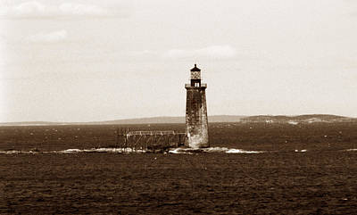 Portland Lighthouse Photograph - Ram Island Ledge Lighthouse by Skip Willits