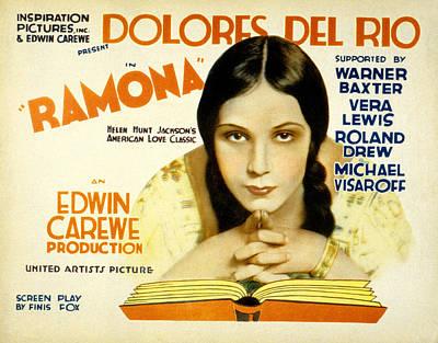 Del Rio Photograph - Ramona, Dolores Del Rio, 1928 by Everett