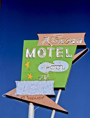 Ramona Motel Art Print by Matthew Bamberg