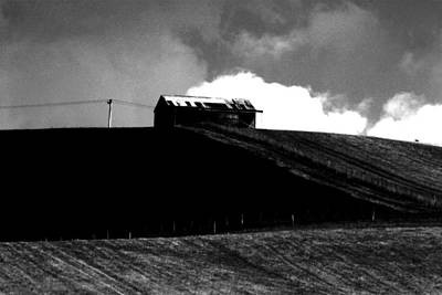 Ranch Building And Clouds Art Print by Noel Elliot