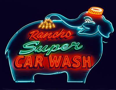 Rancho Car Wash Art Print
